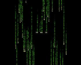 matrix screensaver protetor de tela