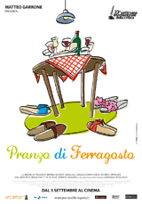 Capa do vídeo Almoço em Agosto. / Video Pranzo di Ferragosto. Capa