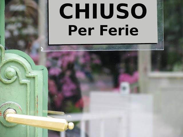 Portas dos comércios fechadas durante o verão na Itália
