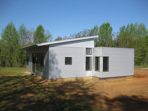 Off Grid Net Zero Systems For A Prefab Green Modern Home