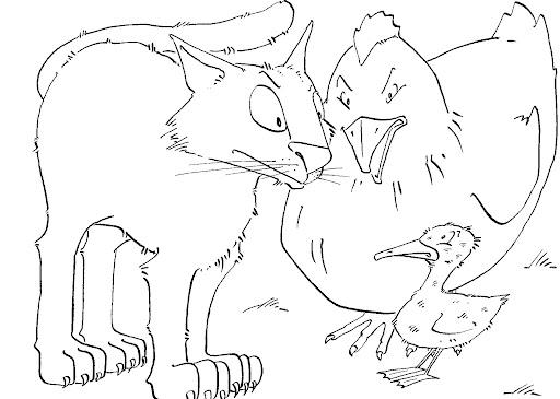 Dibujos para colorear cuento el patito feo - Imagui