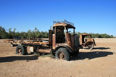 Tom Kruse Mail Truck Mungerannie Hotel Birdsville Track South Australia