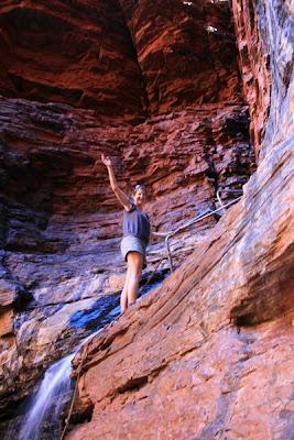 Handrail Pool Weano Gorge Karijini National Park Western Australia