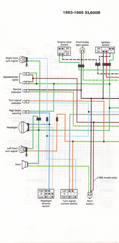 manual wiring tach part two the bike s wiring diagram is fairly simple as far as these things go