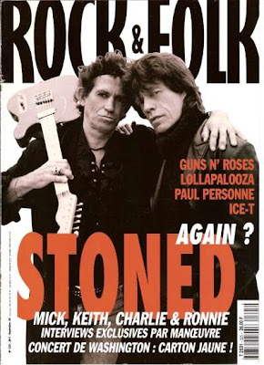 Keith Richards et Mick Jagger en couverture de Rock & Folk en 1994