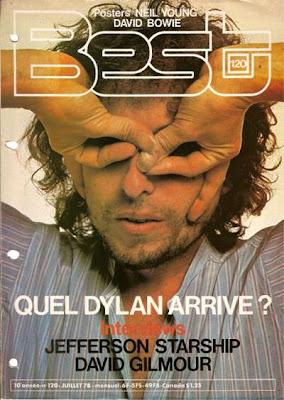 Bob Dylan en couverture de Best en 1978