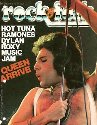 Freddy Mercury en couverture de Rock & Folk en 1978