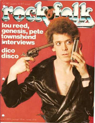 Lou Reed en couverture de Rock & Folk en 1978