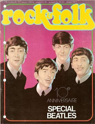 The Beatles en couverture de Rock & Folk en 1976