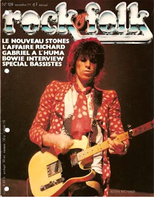 Keith Richards en couverture de Rock & Folk en 1977