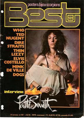 Patti Smith en couverture de Best en 1979