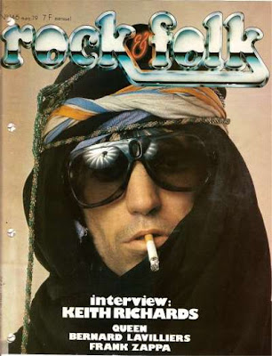 Keith Richard en couverture de Rock & Folk en 1979