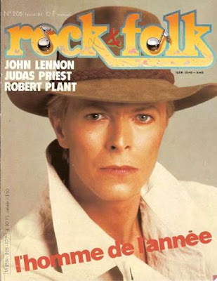 David Bowie en couverture de Rock & Folk en 1984