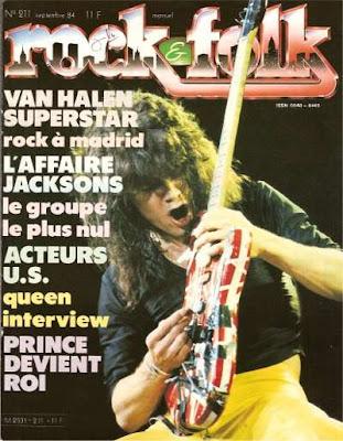 Van halen en couverture de Rock & Folk en 1984