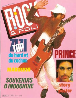 ZZ top en couverture de Rock & Folk en 1986