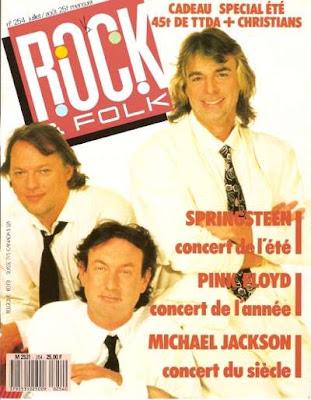 Pink Floyd en couverture de Rock & Folk en 1988