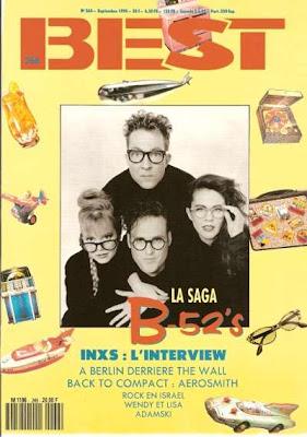The B 52's en couverture de Best en 1990
