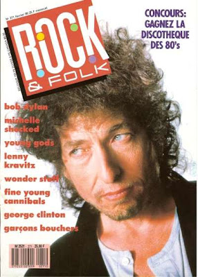 Bob Dylan en couverture de Rock & Folk en 1990