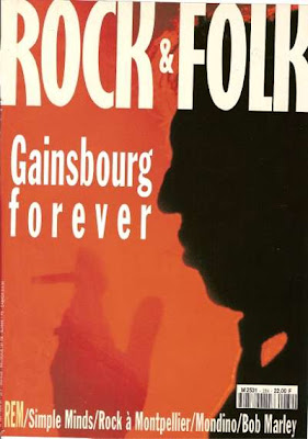 Serge Gainsbourg en couverture de Rock & Folk en 1991