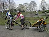 タンデム自転車にチャイルドトレーラーを繋げてみました