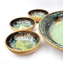 handmade stoneware tapas dish set by glazedOver 4