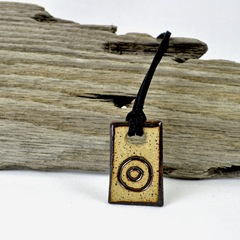 Aim Right Here handmade stoneWEAR Pendant necklace by glazedOver Pottery 3