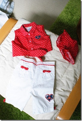 hearts outfit 6-12 mos