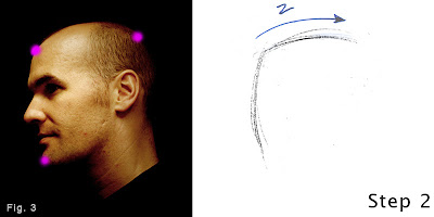 How to draw a head-step 1-figure 3