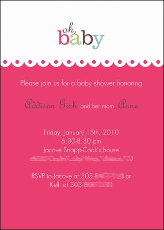 anne's baby shower invite blurred