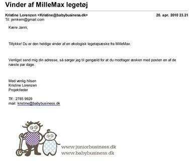 Gmail - Vinder af MilleMax legetøj