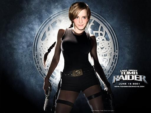 fake emma watson as lara croft tomb rider