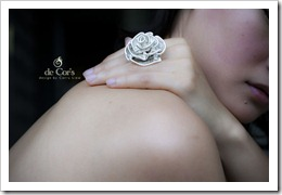 Handmade Wire Jewelry ROSE Ring