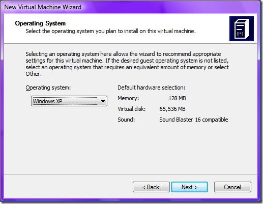 5Virtual Machine Operating System Installation