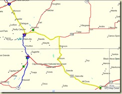 Route from WAlsenburg--Clayton, NM