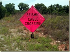 seismic cable crossing