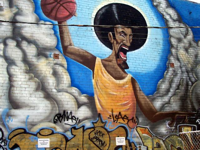 Graffiti Wall in Parking Lot - L.A.