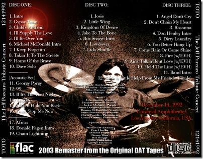 1136 - Jeff Porcaro Tribute Concert - 1992-12-14 - Toto y otros - 2