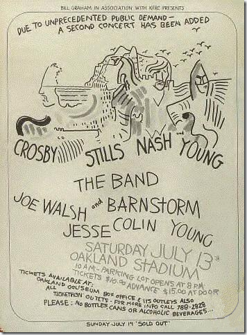 cartel - CSNY 1974 Tour Poster Fo 1974-08-13