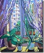 Aloé Réunion-Berthelot, Acrylique sur toile,36x46, Avr. 2010