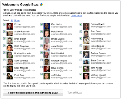 Google Buzz Vorschläge