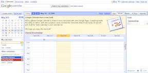 Neues Google Calendar Design