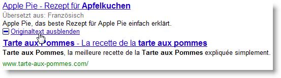 Google Search Translate