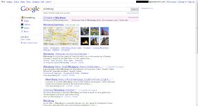Zentrierte Ergebnisse ohne Werbung (in der Sidebar)