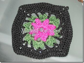 Crochet: Pastilla de Flor en alto relieve