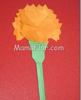Aprende a hacer un Flor CLAVEL de Papel - Manualidades en Origami