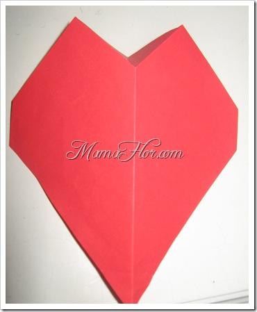 Corazón realizado con Papel | Para niños