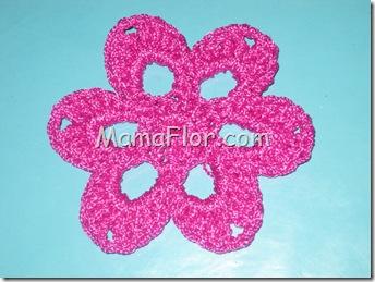 Crochet: Pastilla en forma de una flor