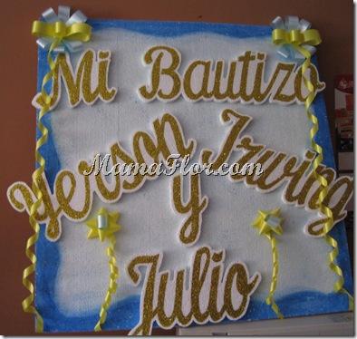 Portanombre para Bautizo…