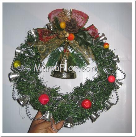Navidad corona para la puerta o ventanas modelo i - Modelos de coronas ...