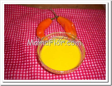 Como hacer la crema de aji amarillo o crema casera